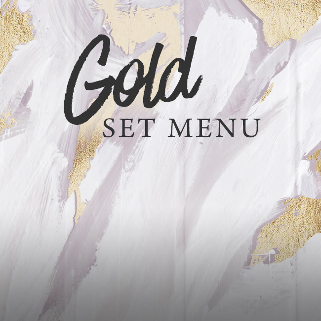 Gold set menu at The Barnt Green Inn