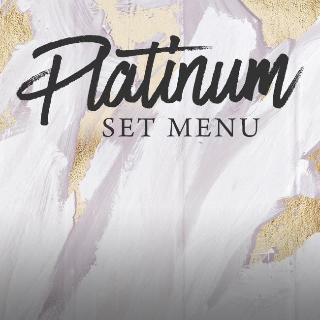 Platinum set menu at The Barnt Green Inn